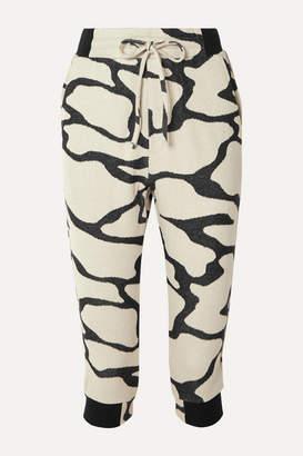 TWENTY Montréal - Hyper Reality Cropped Cotton-blend Jacquard-knit Track Pants - Gray
