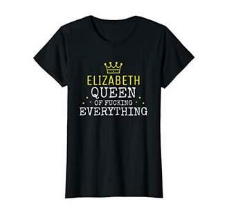 IDEA Womens Funny Name Personalized Dress Birthday Gift Elizabeth T-Shirt