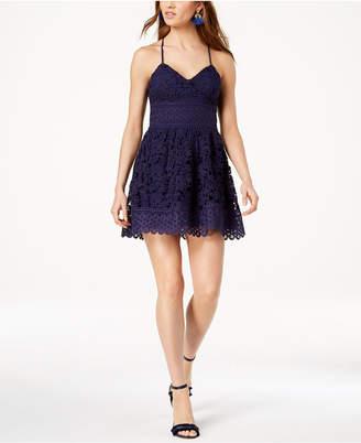 J.o.a. Lace Fit & Flare Dress