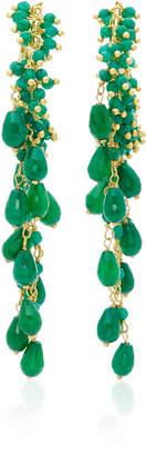 Pascoli Gold-Tone Green Quartz Earrings Rosantica R9z253wLW