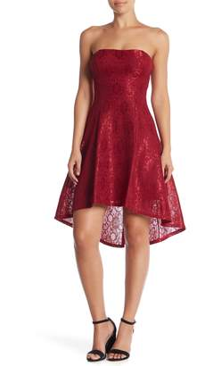 Jump Bonded Lace Hi-Lo Dress