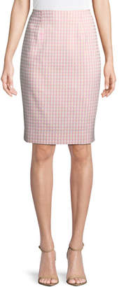 Nanette Lepore Posh Gingham Pencil Skirt