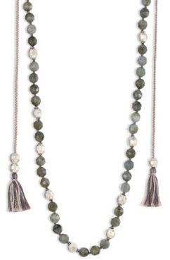 Chan LuuChan Luu Tasseled Labradorite Long Necklace