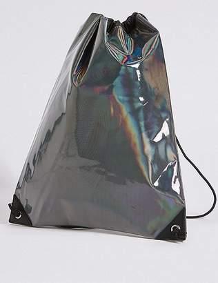 Marks and Spencer Kids' Holographic Drawstring Backpack