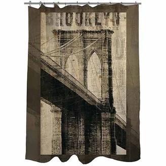 Thumbprintz Vintage NY Brooklyn Shower Curtain