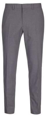 Burton Mens Big & Tall Light Grey Skinny Fit Stretch Trousers