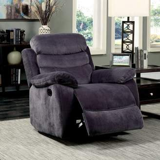 Furniture of America Robyn Glider Recliner, Gray