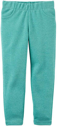 Carter's Glitter Knit Slim Pants-Preschool Girls