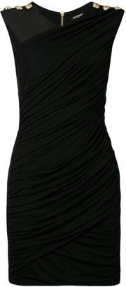 Balmain slim-fit draped mini dress