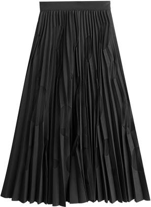 MSGM Pleated Skirt with Spot Print