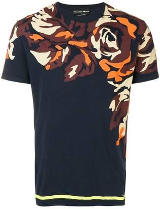 Alexander McQueen graphic floral print T-shirt