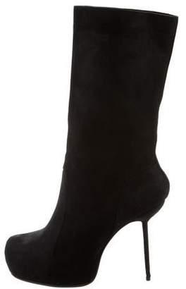 Rick Owens Leather Platform Boots