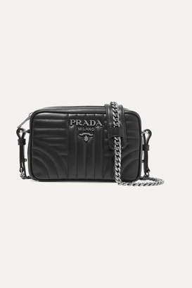 Prada Quilted Leather Camera Bag - Black