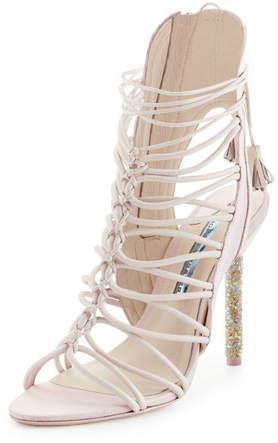 Sophia Webster Lacey Crystal Bridal Sandal