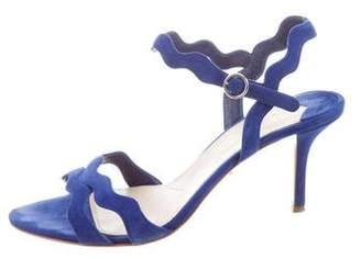 Prada Suede Ankle Straps Sandals