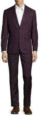 Two-Button Jacket and Pants Suit Set