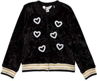 Petit Lem Velvet Jacket (Toddler & Little Girls)