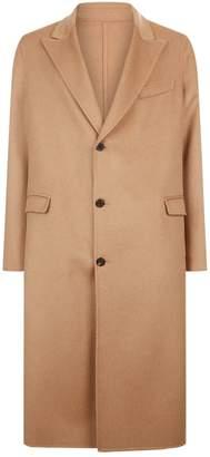 Alexander McQueen Longline Camel Hair Coat