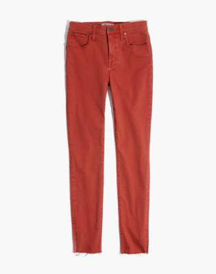 "Madewell Petite 9"" High-Rise Skinny Jeans: Raw-Hem Garment-Dyed Edition"