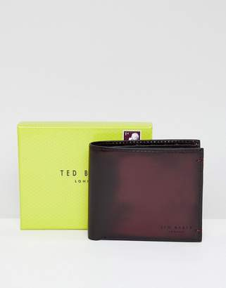 Ted Baker Geen coin wallet in burnished leather