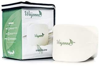 The Wayanna Collection Back Pain Relief Knee Pillow: Contoured Orthopedic Memory Foam Side Sleeper and Pregnancy Wedge Pillows for Sciatic Nerve Joint Leg and Lower Back Aches