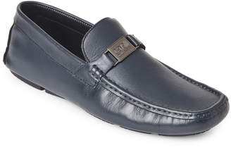Class Roberto Cavalli Navy Leather Driving Loafers