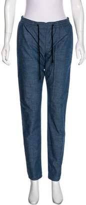 Proenza Schouler Mid-Rise Straight-Leg Pants