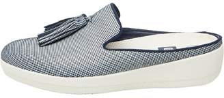 FitFlop Womens Houndstooth Print Superskate Slip-On Shoes Midnight Navy