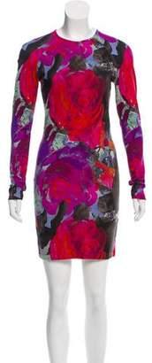 Christopher Kane Printed Mini Dress