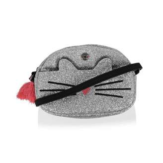 Ikks IKKSGirls Silver Glitter Cat Bag