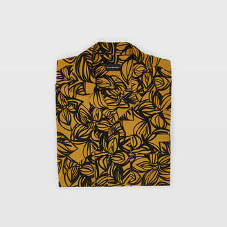Club Monaco Camp Collar Linear Flower