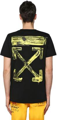 Off-White Oversize Printed Cotton Jersey T-Shirt