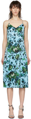 Erdem Blue and Green Fitzroy Rose Vivianne Dress