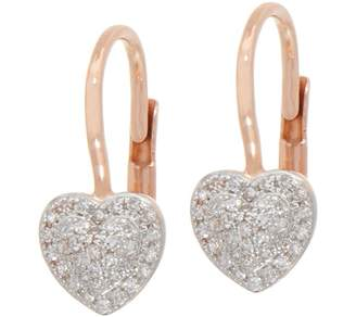 Affinity Diamond Jewelry Pave Heart Diamond Earrings, 1/5 cttw, 14K by Affinity