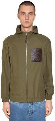 Loewe Hooded Patch Zip Jacket