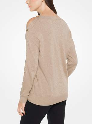 MICHAEL Michael Kors Metallic Cotton-Blend Pullover