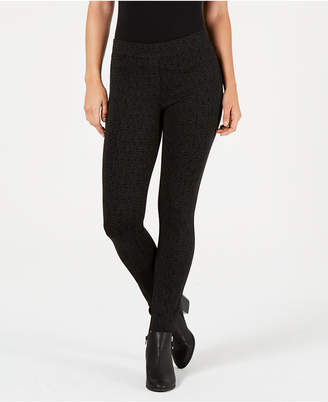Style&Co. Style & Co Stipple-Print Tummy-Control Leggings