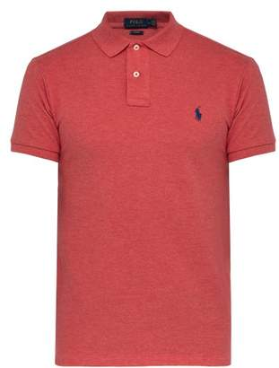 Polo Ralph Lauren Slim Fit Logo Embroidered Cotton Pique Polo Shirt - Mens - Coral