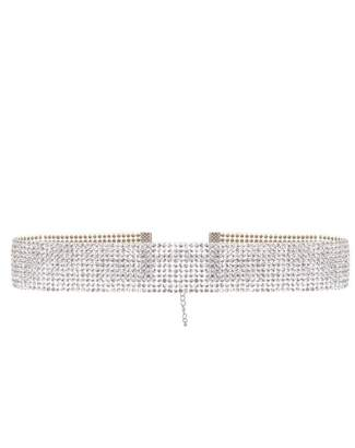 Quiz Silver Diamante Resin Choker
