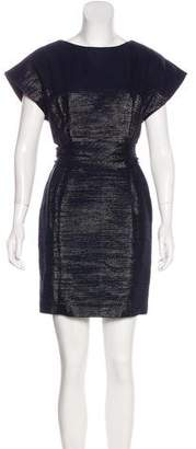 Veronica Beard Metallic Belted Dress