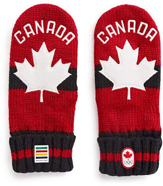 CANADIAN OLYMPIC TEAM COLLECTION Adult Red Mittens