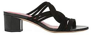 Diane von Furstenberg Women's Jada Block Heel Slides Sandals