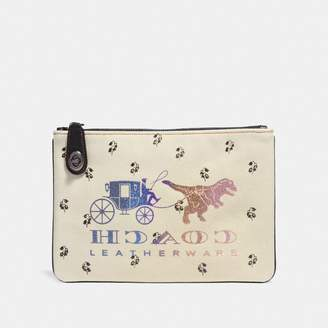 Coach Turnlock Pouch 26 With Rexy And Carriage