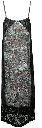 I'M Isola Marras floral print lace panel shift dress