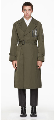 Random Identities Khaki Military Trench Coat