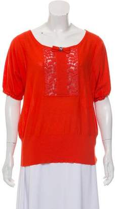 Sonia Rykiel Wool Blend Embellished Top