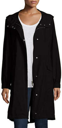Eileen Fisher Hooded Long Anorak Jacket, Petite $318 thestylecure.com