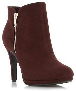 Roberto Vianni Ladies OPIA Side Detail Dressy Ankle Boot in Burgundy Size UK 8