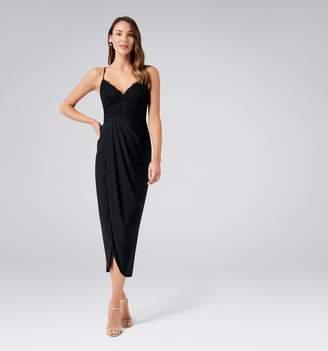 Forever New Jasmina Lace Bodice Drape Maxi Dress