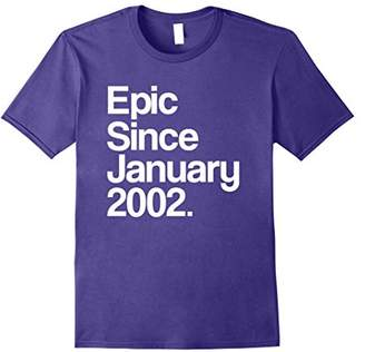 Epic Since January 2002 T-Shirt - 16th Birthday Gift Tee